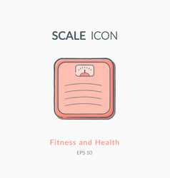 scales icon isolated on white vector image vector image