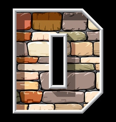 stone letter D vector image