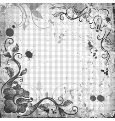 Background with a frame Retro style vector image vector image