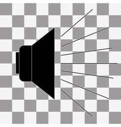 black speak icon vector image vector image