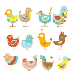 cute chickens vector image vector image