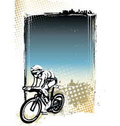 cycling poster background vector image