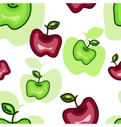 Seamless Pattern with Abstract Apples vector image vector image