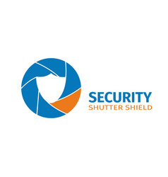 the logo of the company of video surveillance vector image
