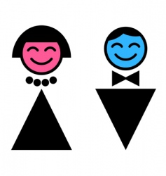 toilet sign man and woman vector image vector image