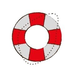 life buoy safety travel color sketch vector image