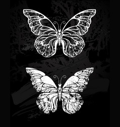 painted with chalk butterfly morpho vector image vector image