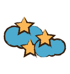 stars and cloud icon image vector image