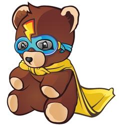 Super Hero Teddy Bear Cartoon Character vector image
