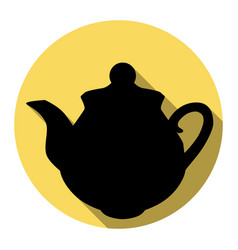 tea maker sign flat black icon with flat vector image vector image