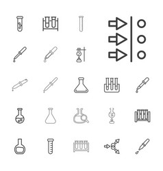 22 experiment icons vector