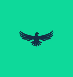 abstract simple eagle logo design isolated vector image