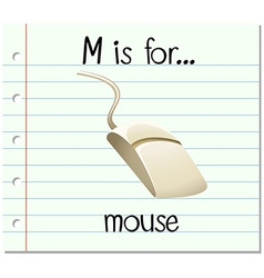 Alphabet M is for mouse vector