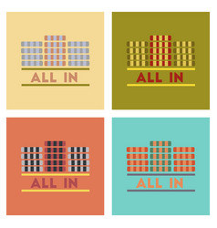 Assembly flat icons poker chips all vector