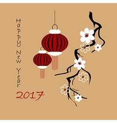 Background for 2017 Chinese new year vector