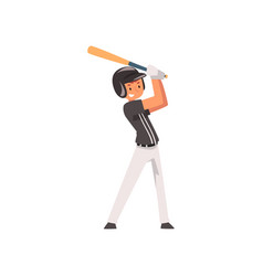 baseball player hitting ball with baseball bat vector image