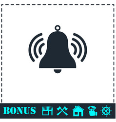 bell icon flat vector image