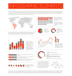 Big set of Infographic elements vector image