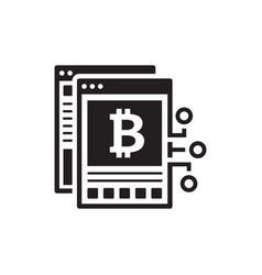 bitcoin white paper icon vector image