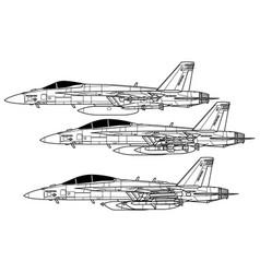 Boeing f-18e super hornet vector
