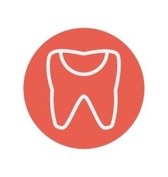 Broken tooth thin line icon vector