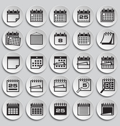 Calendar icon set on plates background for graphic vector