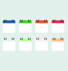 calendars set on white background eps10 vector image