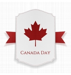 Canada Day national Label with Ribbon vector image