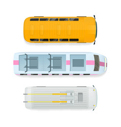 City transport top view flat vector