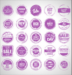 collection grunge sale rubber stamp 01 vector image
