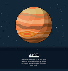colorful poster with planet jupiter vector image