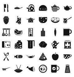 cook icons set simple style vector image