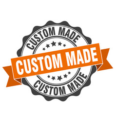 custom made stamp sign seal vector image