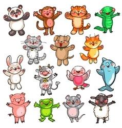 Cute baby animals vector image