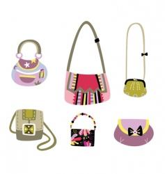 Cute bags vector
