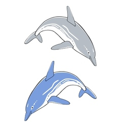 Cute jumping dolphins vector