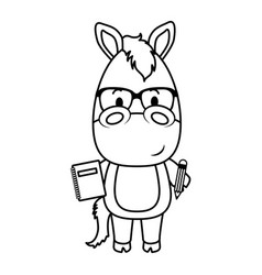 cute little horse character vector image