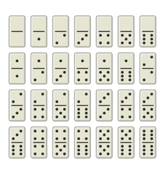 Domino bones complete set on white background vector