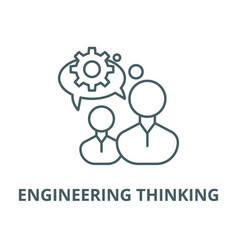 engineering thinking line icon linear vector image