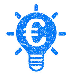 Euro innovation grunge icon vector