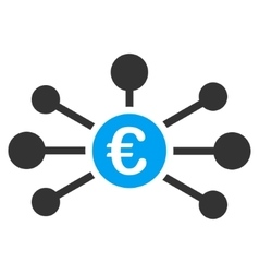 Euro Relations Flat Icon vector image
