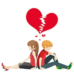 Faceless couple vector