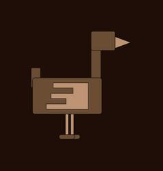 Flying duck silhouette vector