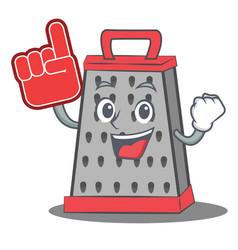 Foam finger kitchen grater character cartoon vector