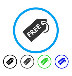 Free tag rounded icon vector