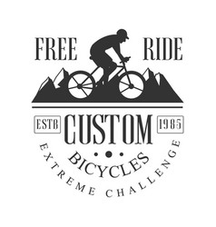 Freeride custom bicycles extreme challenge vintage vector