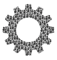 Gear wheel mosaic of naked woman icons vector