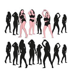 girl dance set vector image