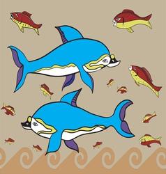 Greek fish vector image