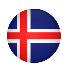 iceland flag brush painted iceland flag hand vector image